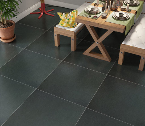 Keraselect Basaltina Super Nero Natural 60x60_sfeerfoto