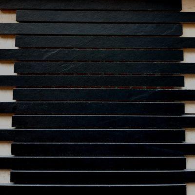 Keraselect Ardesia Noir 1,7x29 Mosaico 30x30cm_2
