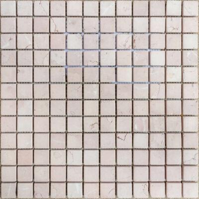 MTC Rosa Perlino Gezoet Getrommeld 2,3x2,3 Mozaïek 30x30cm