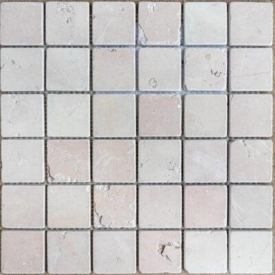 MTC Rosa Perlino Gezoet Getrommeld 4,8x4,8 Mozaïek 30x30cm