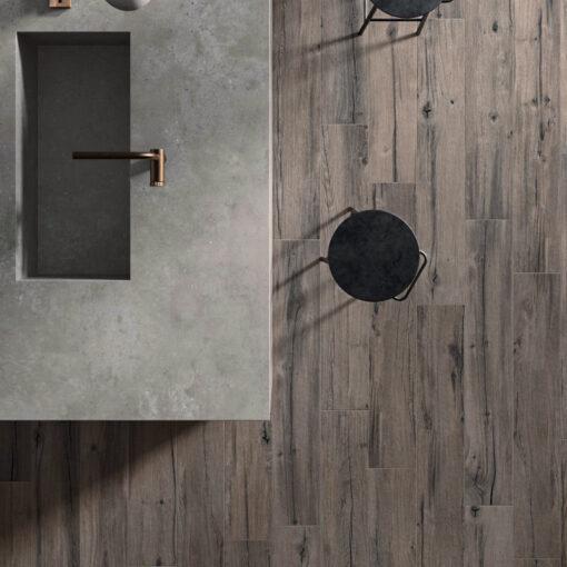 Flaviker Nordik Wood Brown 20 x 120 cm_sfeerfoto