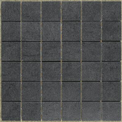 KeraSelect Basaltina Nero Super Lappato 4,8x4,8 Mozaïek 30x30cm