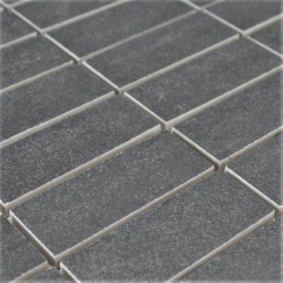 Ceratile Fusion Grey 3x8 Mozaiek 33x33cm_2